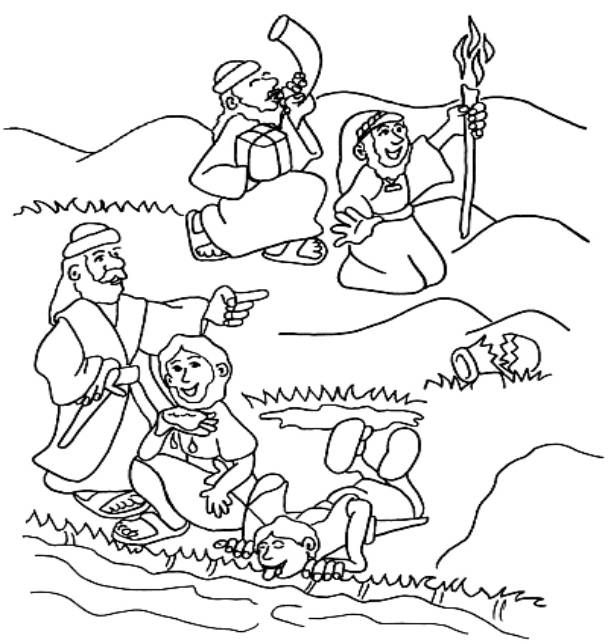 gideon coloring pages for sunday school | Gideon Coloring Page | Gideon in the Bible for Kids ...