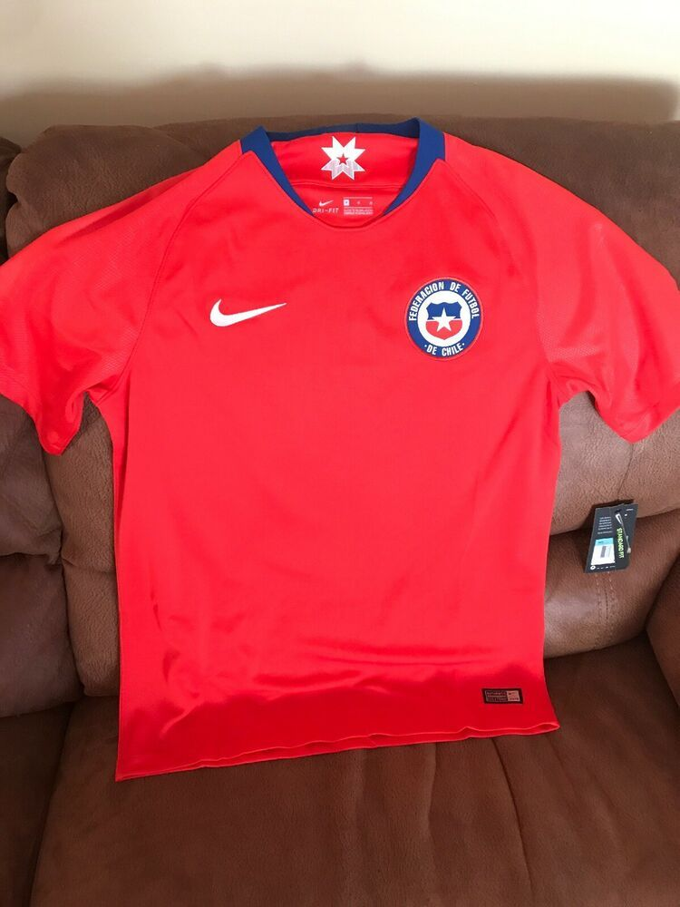 reputable site a34dd d262c Details about Nike 2018 World Cup Chile National Team Red ...