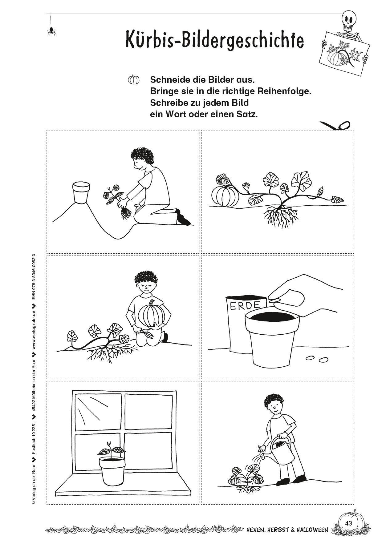 Kopiervorlage Kurbis Bildergeschichte Herbst Hexen Halloween Gespenst Kurbis Freebie G Bildergeschichten Grundschule Bildergeschichte Bildgeschichte