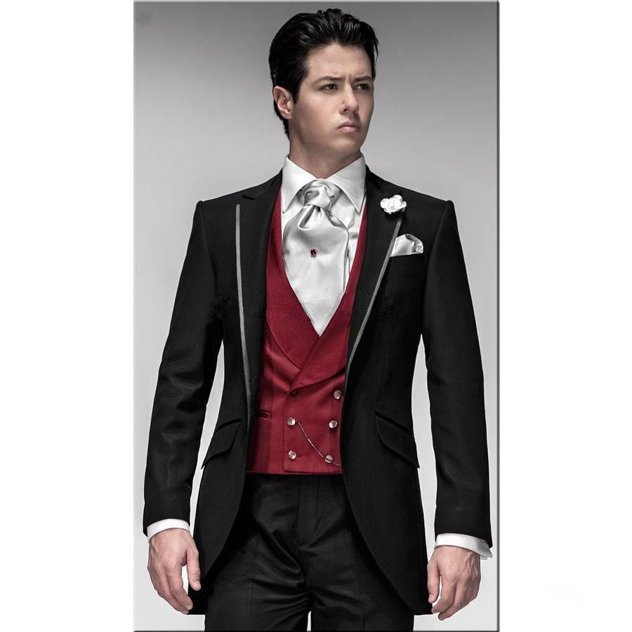 Tuxedo for Men Grooms Wedding Suits | Promessa | Pinterest ...