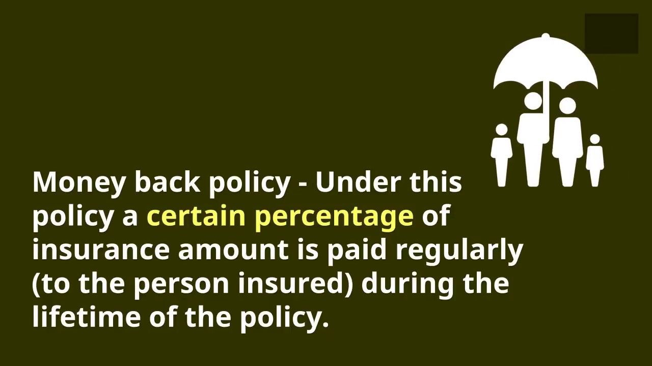 What Is A Money Back Policy Meaning Of Money Back Life Insurance