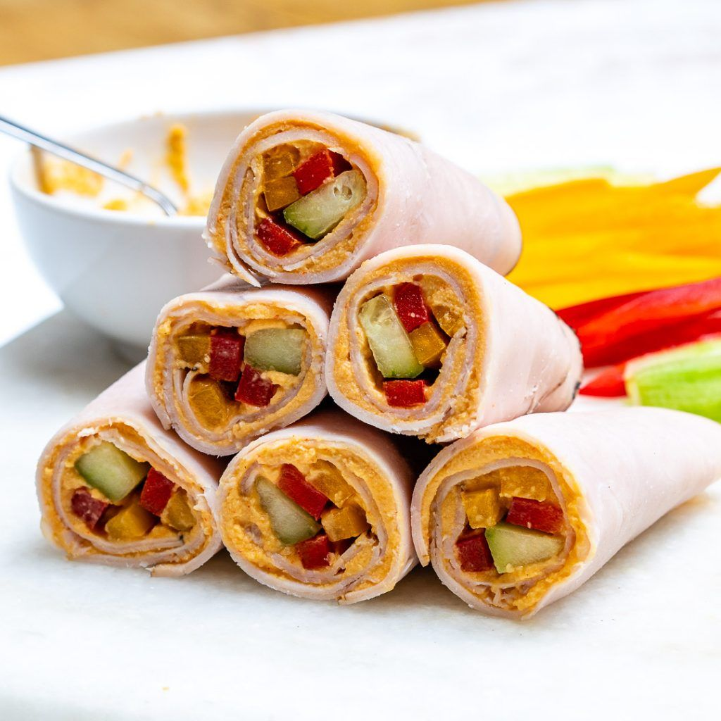 Turkey + Veggie + Hummus Wraps Recipe Clean food crush