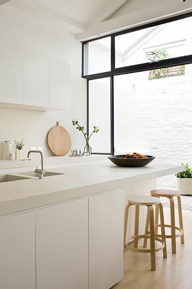 white seamless cabinets k che kitchen kochinsel tresen bar interior pinterest haus k chen. Black Bedroom Furniture Sets. Home Design Ideas