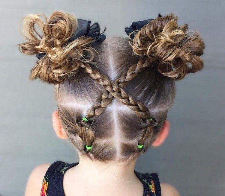 Coiffure petite fille tresse en 70 idées créatives pour