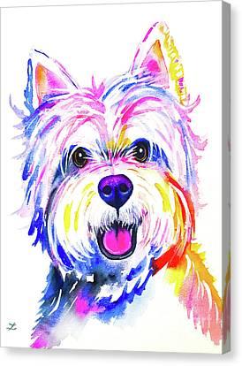 Westie Canvas Print Canvas Art By Zaira Dzhaubaeva Watercolor Canvas Wall Art Watercolor Canvas Painting Prints