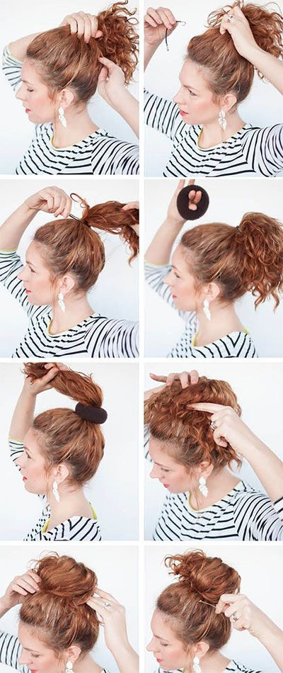 Sock Bun Hacks Tips Tricks How To Wear Hair Up In Donut Curly Hair Styles Curly Girl Hairstyles Curly Hair Styles Naturally