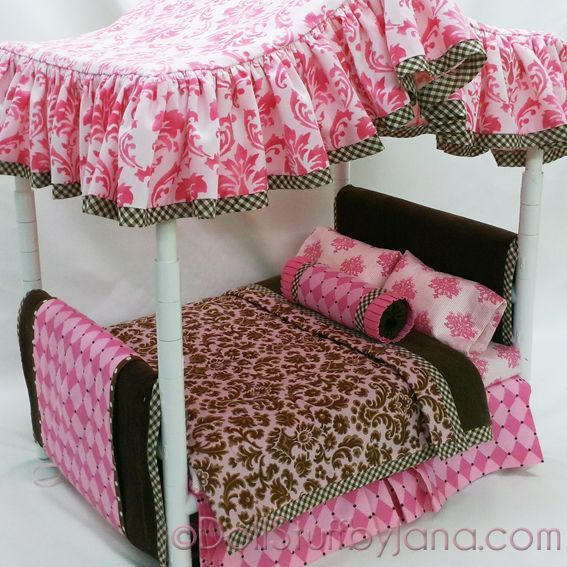 Pvc Pipe Bed Plans: Fabulous! Pattern For A Canopy Bed For American Girl Dolls