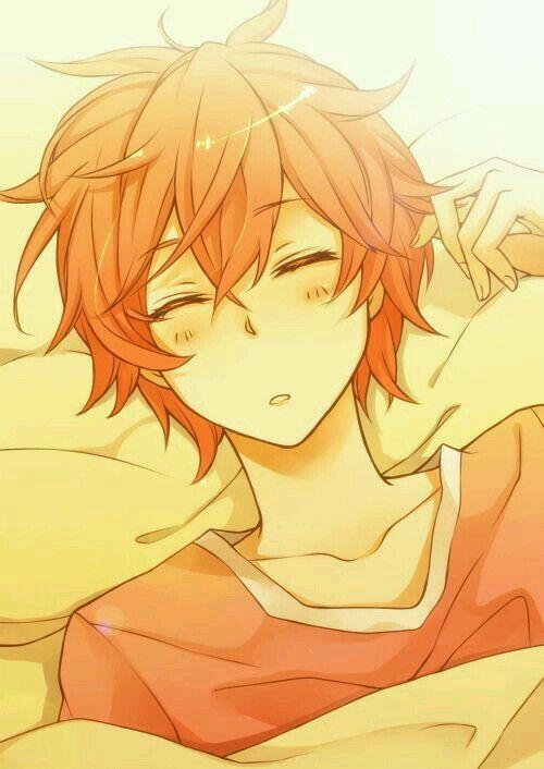 Orange Hair Anime Boy Sleeping Anime Boy Hair Anime Anime Orange
