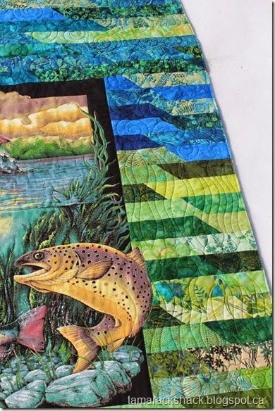 ❤ =^..^= ❤ This is Evelyn's quilt and it is a graduation gift ... : fishing quilt - Adamdwight.com