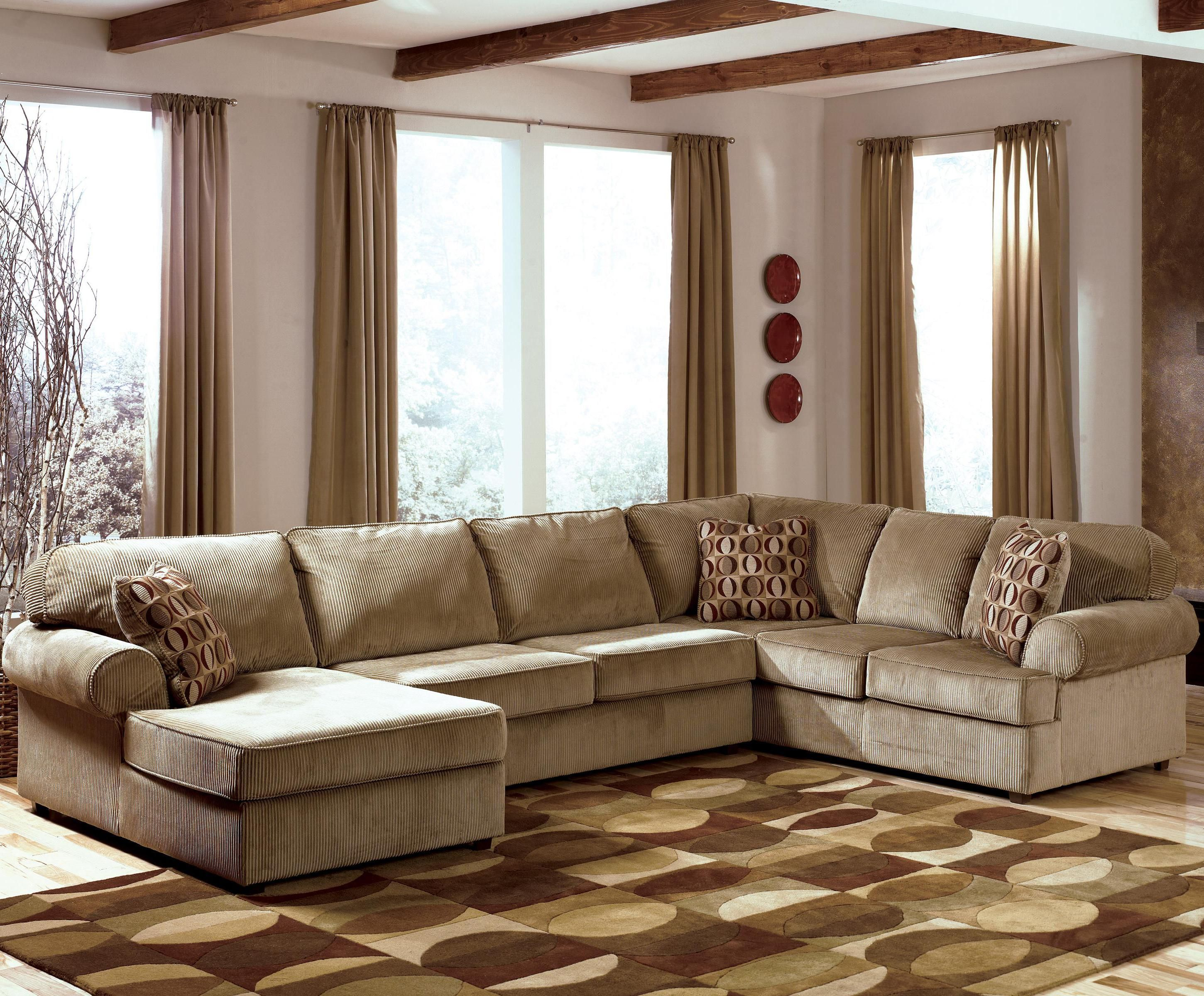 Vista - Cappuccino 3-Piece Sectional with Left Chaise by Ashley ...