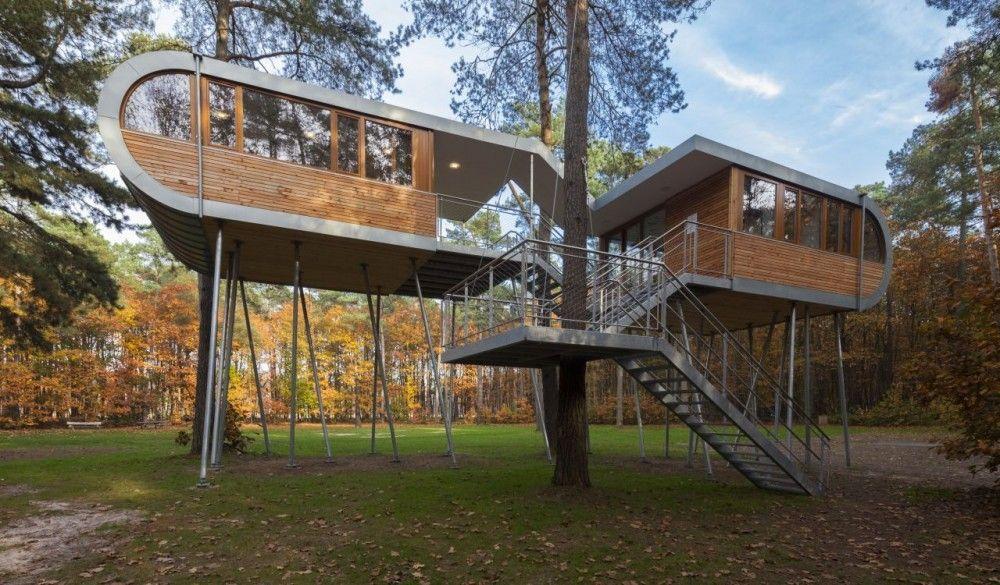 Una casa del árbol fomenta la sostenibilidad en Bélgica CASAS - casas en arboles