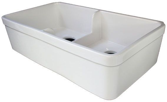 View the ALFI brand AB5123 32 Inch Short Wall Double Bowl Fireclay ...