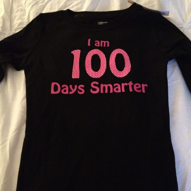 Htv Shirt Decal Placement And Size Tips And Resources: Shirt For M To Wear On The 100th Day Of School! Silhouette