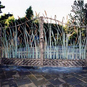 Grass design gate