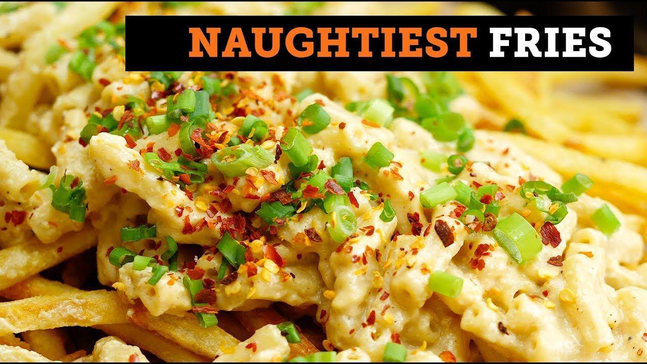 Spicy Mac Cheese Fries Bosh Vegan Youtube Spicy Mac And Cheese Spicy Recipes Quorn Recipes