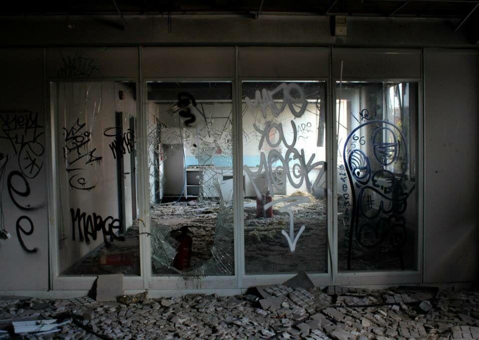 Kitchen windows. Empty offices. Jess Turver photography