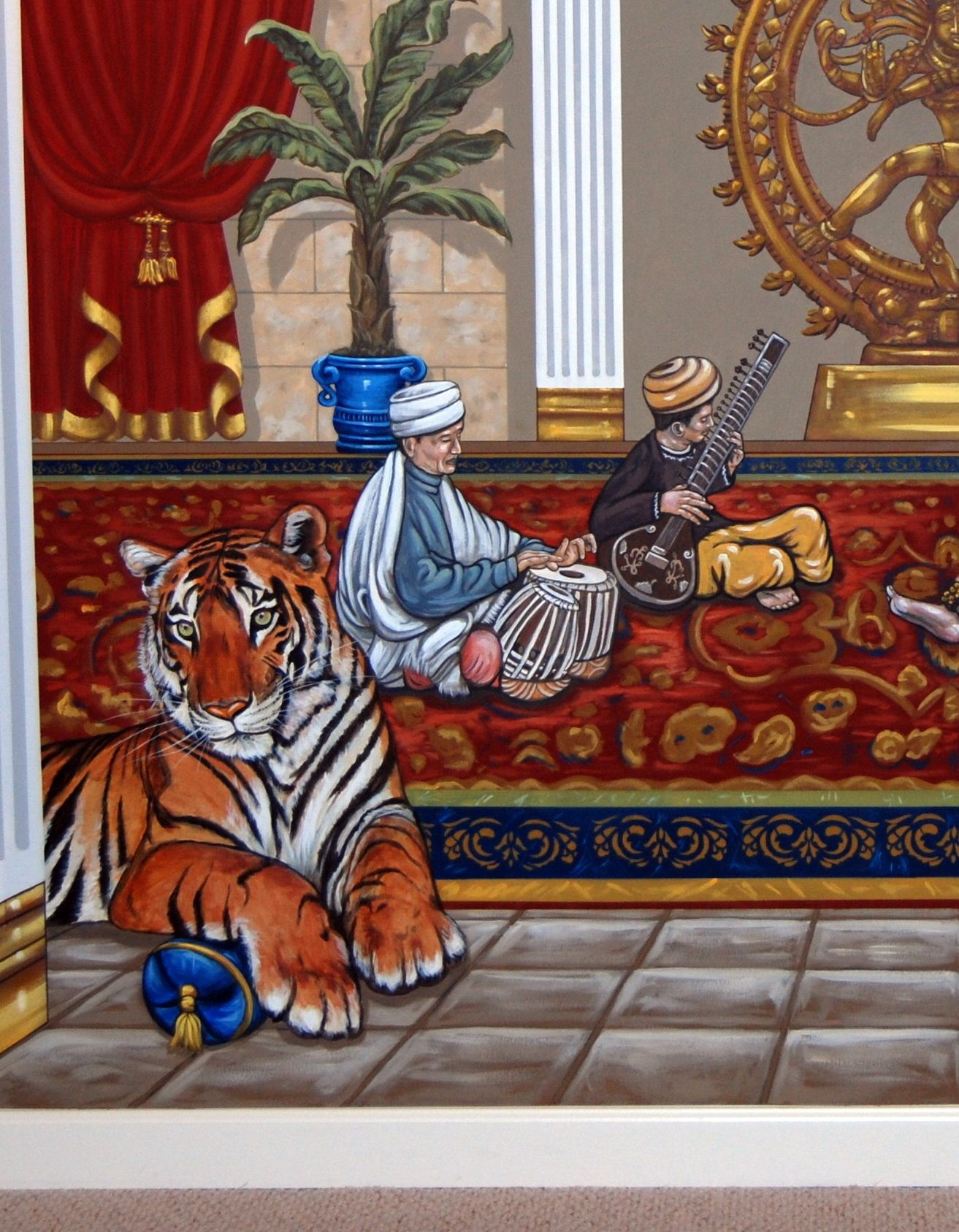 Indian Palace Wall Mural in a Home Theater by Tom Taylor