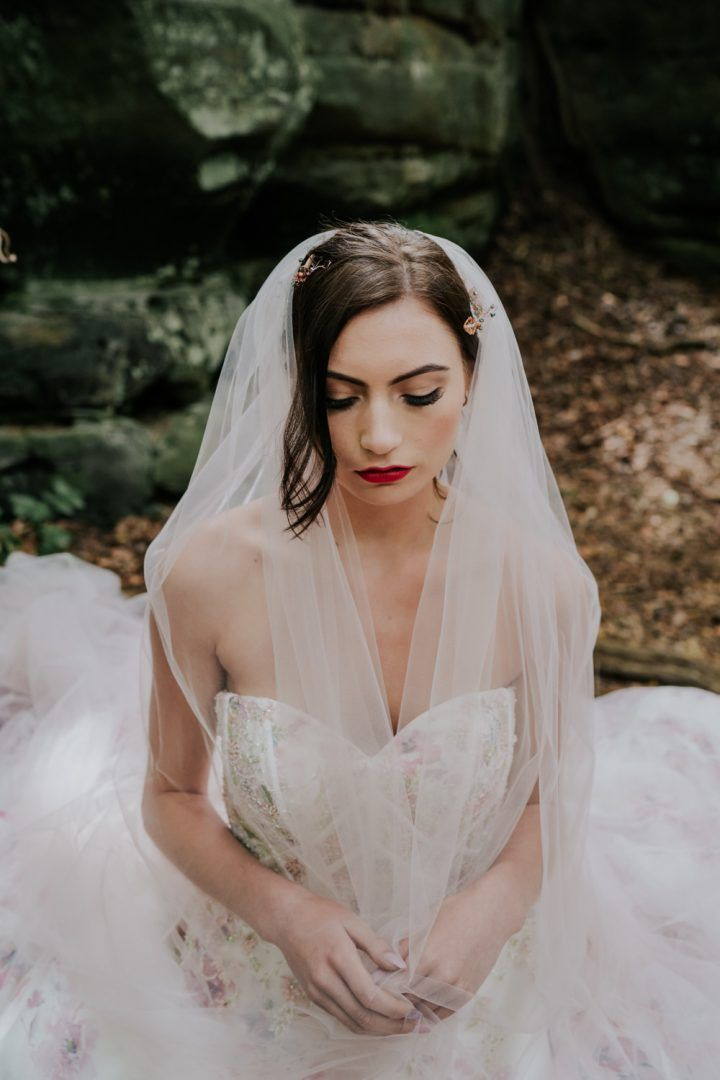 Photo of Dark & Decadent Snow White Wedding Inspiration   Whimsical Wonderland Weddings