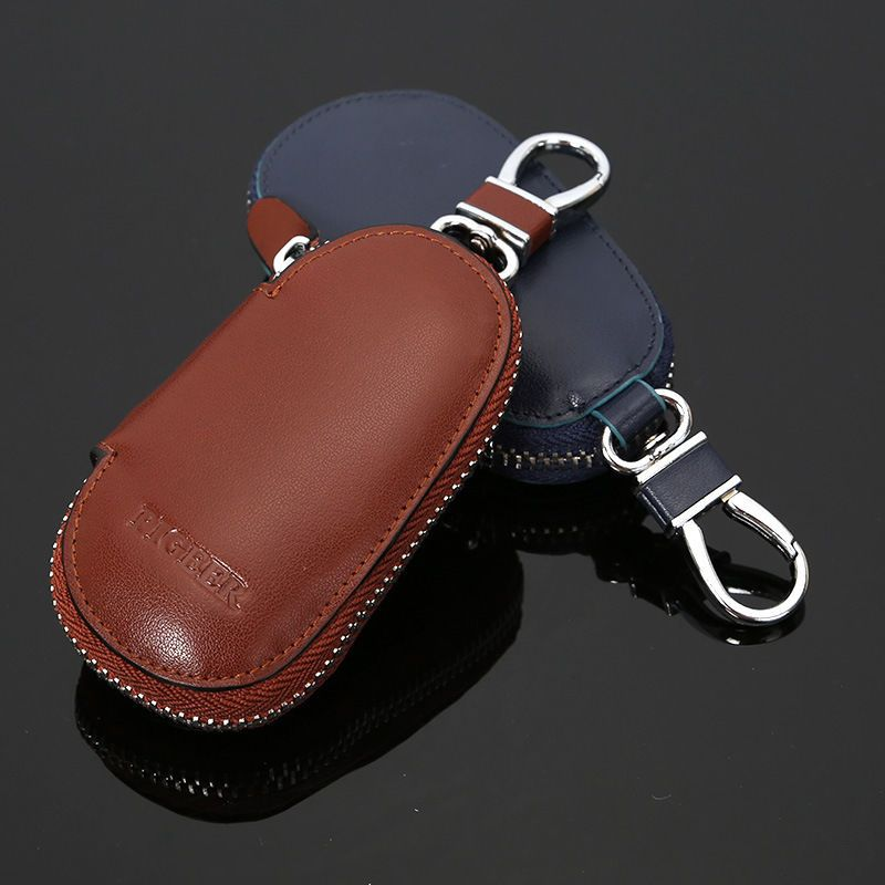 Cowhide Double Key Case SOFT LEATHER BROWN