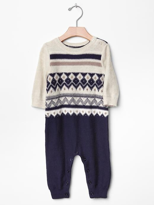 Fair isle sweater one-piece Product Image | cooper's closet ...