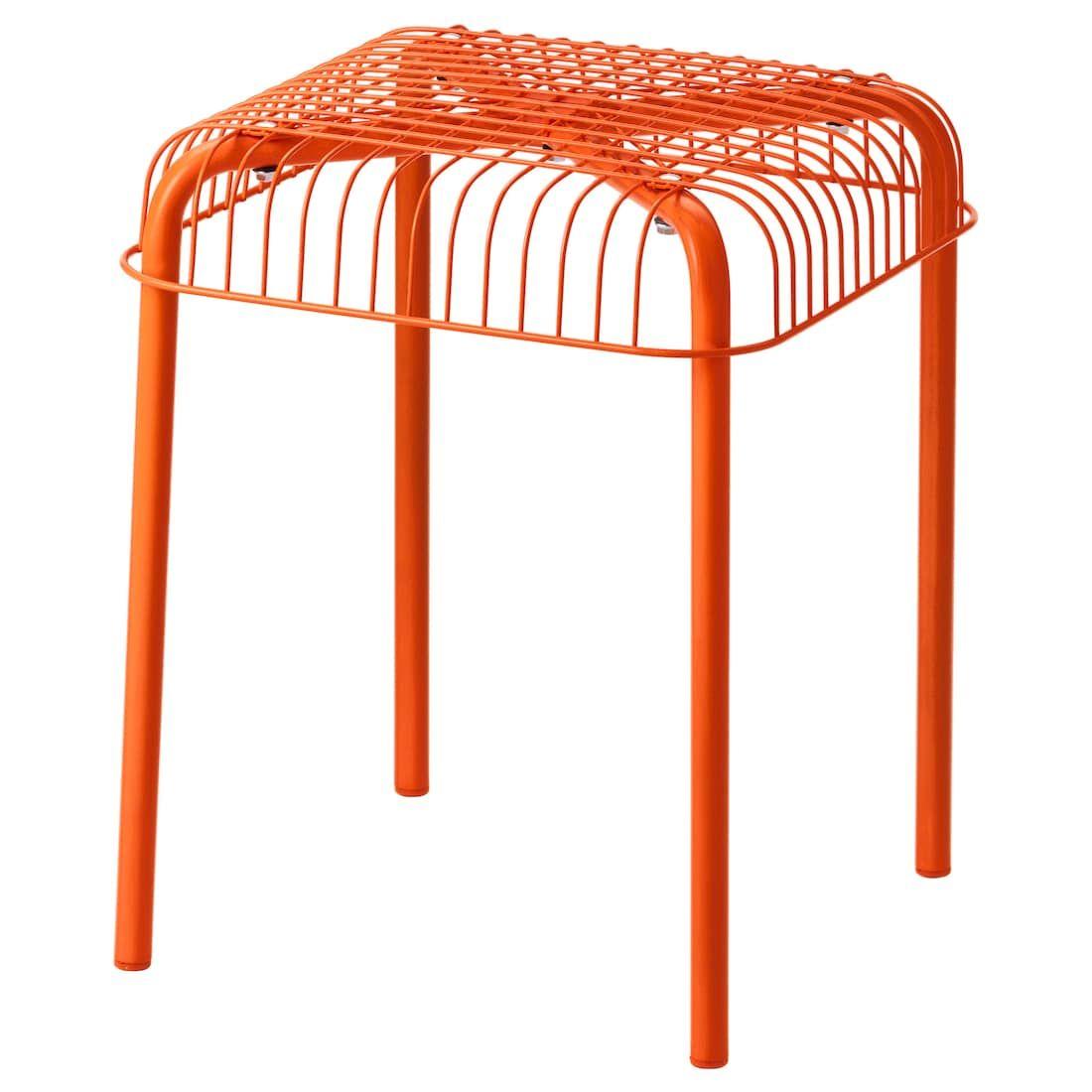 Vasteron Hocker Drinnen Draussen Orange Ikea Ikea Terrasse Gartenstuhle Hocker