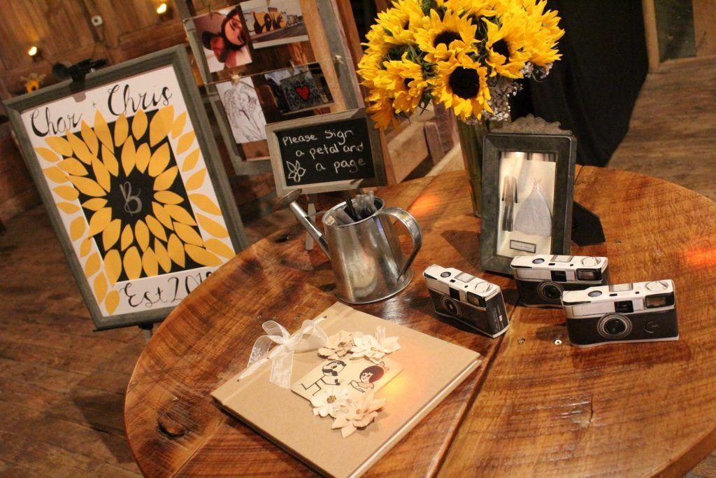 DIY Barn Wedding with Sunflowers Wedding guest book
