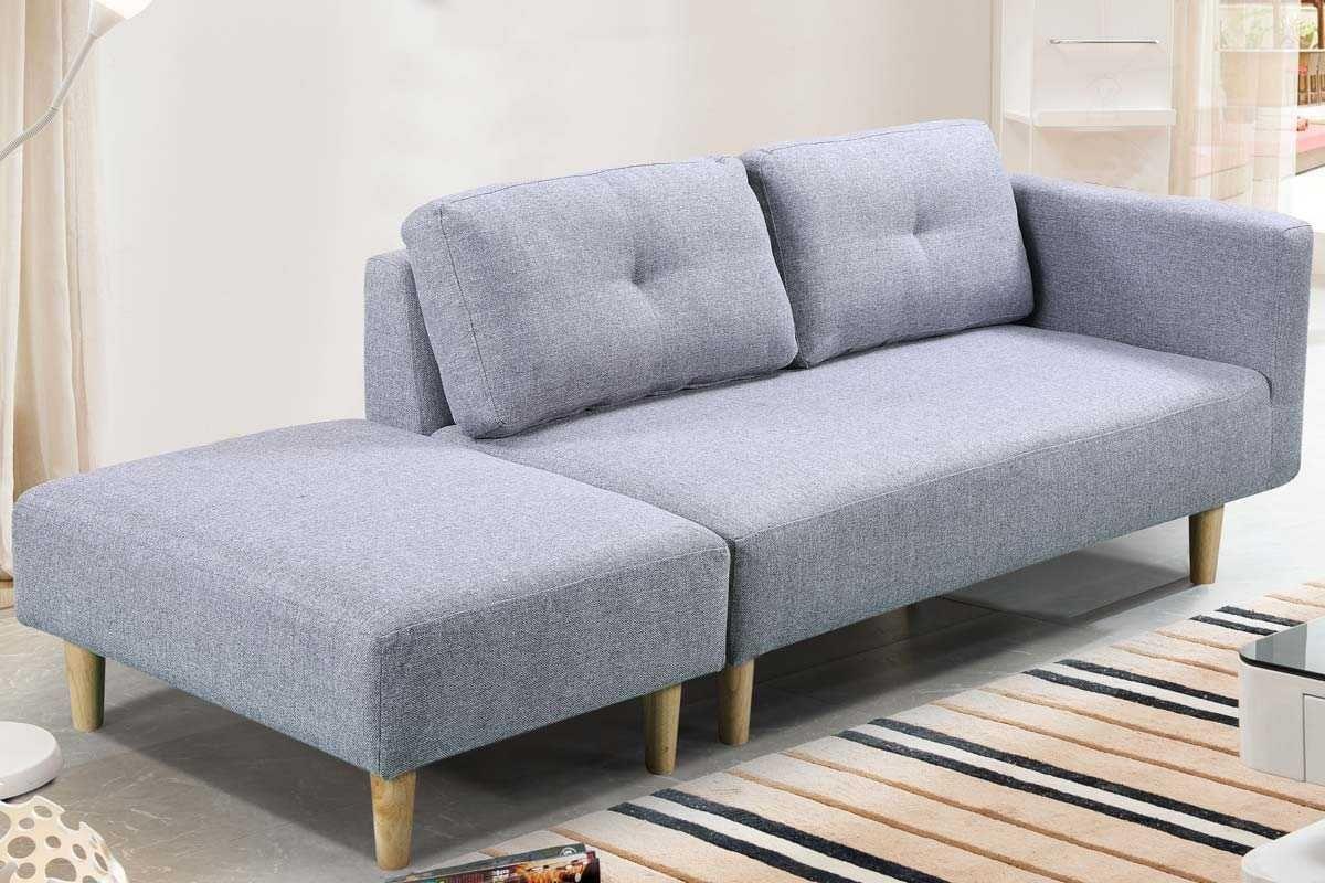 Cavendish Light Grey Fabric Modern 2 Seater Sofa Footstool Cowslip Interiors X Sofa 2 Seater Sofa Grey Fabric