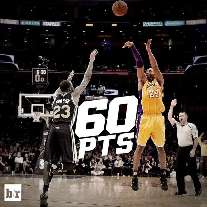 Kobe Bryant A K A The Black Mamba Scores 60pts In His Final Game Ever He Will Always Be A Part Of Basketbal Basketball History Basketball Is Life Gyms Near Me