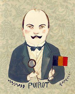 Kelsey Garrity Riley Illustration Hercule Poirot Agatha