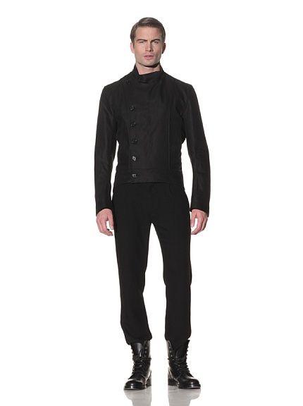 Ann Demeulemeester  Woven Side Button Jacket