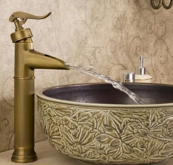 BECOLA Antique Bronze Bathroom Faucet Basin Tap Antique Brass Pool - Antique bronze bathroom fixtures
