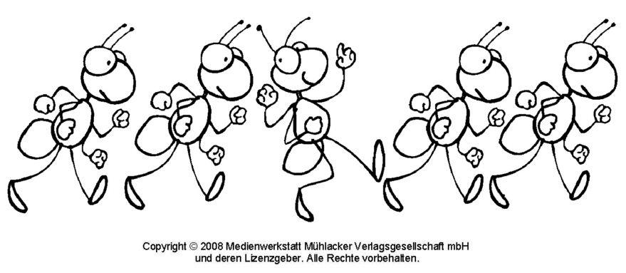 vorlage  ausmalbilder tiere zum ausmalen ameisen