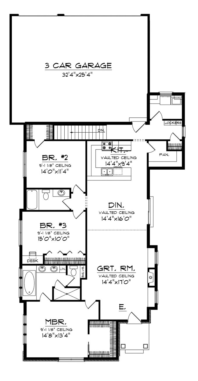 Ranch Style House Plan 3 Beds 2 Baths 1807 Sq Ft Plan 70 1113