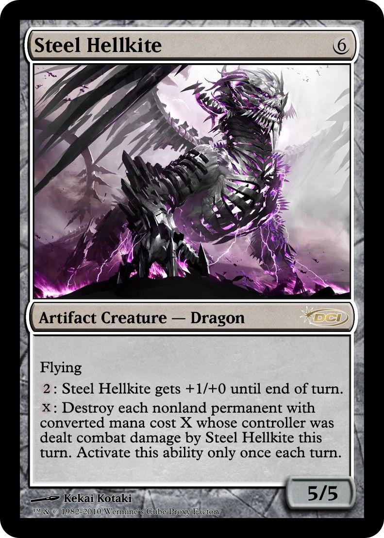 Mtg steel hellkite  x 1 great condition