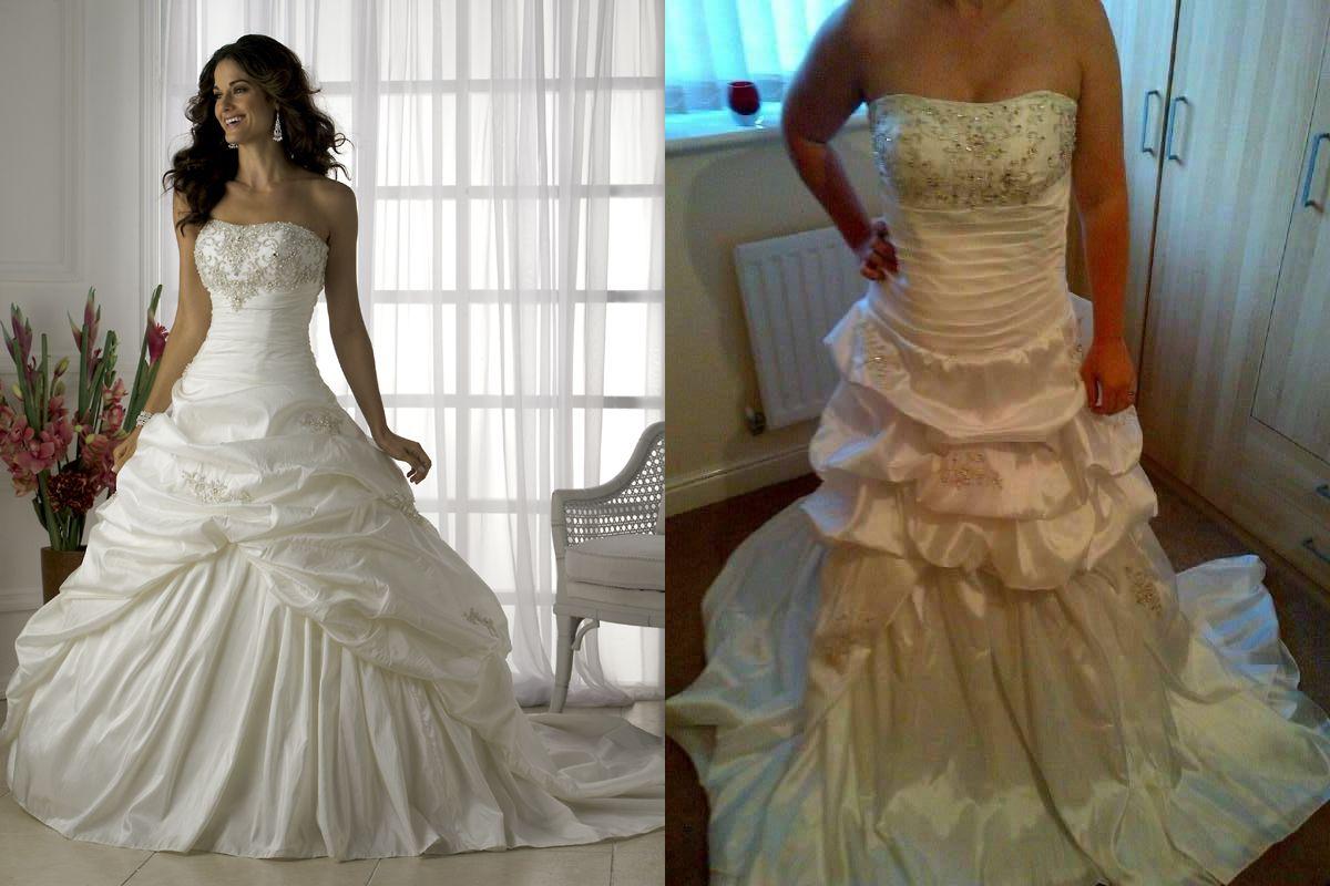 Fake wedding dress!