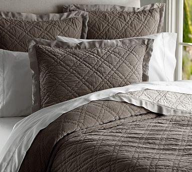 washed velvet silk quilt sham potterybarn 1 king quilt in porcelain blue and 3 uro shams in. Black Bedroom Furniture Sets. Home Design Ideas