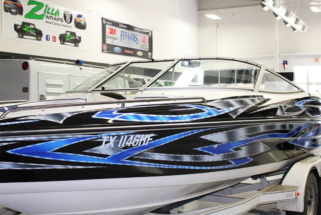 Boat Graphics Fort Worth Zilla Wraps Boat Wraps Pontoon