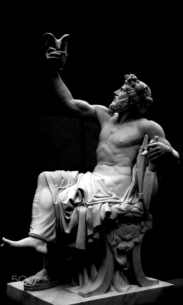 The Greek lyric poet Anacreon #statue - musee d'orsay - #paris - #france #greekstatue