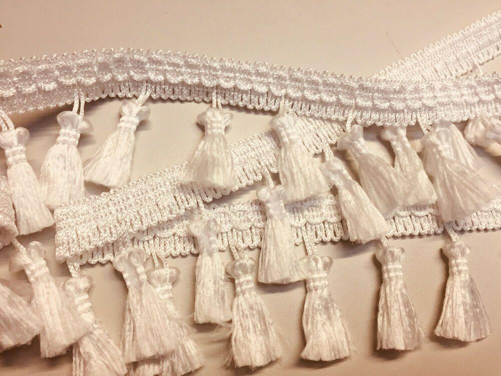 craft per 100cm//1 metre upholstery sewing DIY fringing Vintage tassel trim