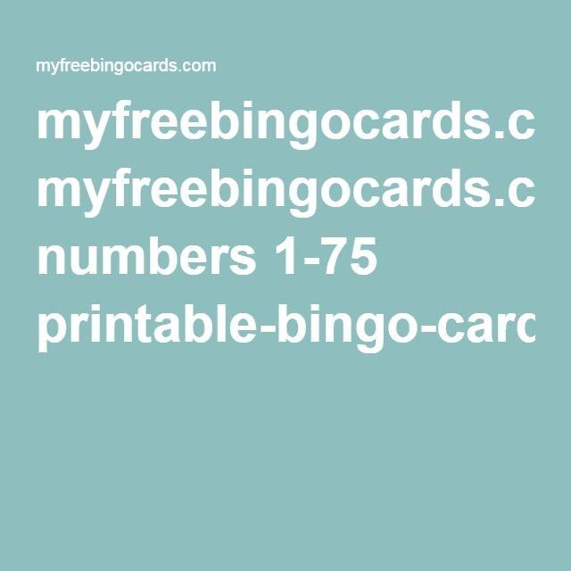 image about Printable Bingo Cards 1-75 titled figures 1-75 printable-bingo-card
