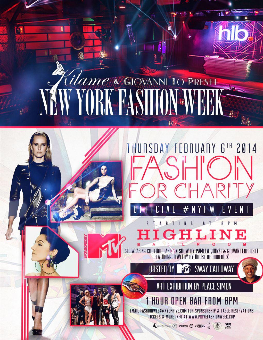 New York Fashion Week 2014 Flyer Sway Calloway Night Life