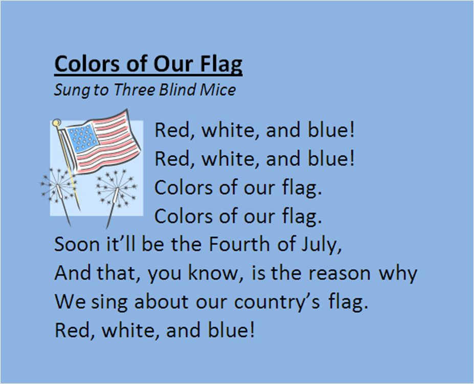 4th Of July Song 4th Of July Songs Fourth Of July Songs Lesson Plans For Toddlers