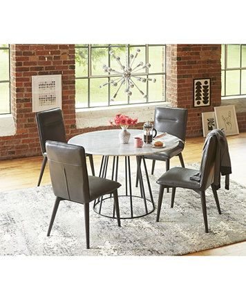 Callisto Marble Round Dining Table Only At Macy S Macys Com Round Marble Dining Table Round Dining Table Dining Room Table