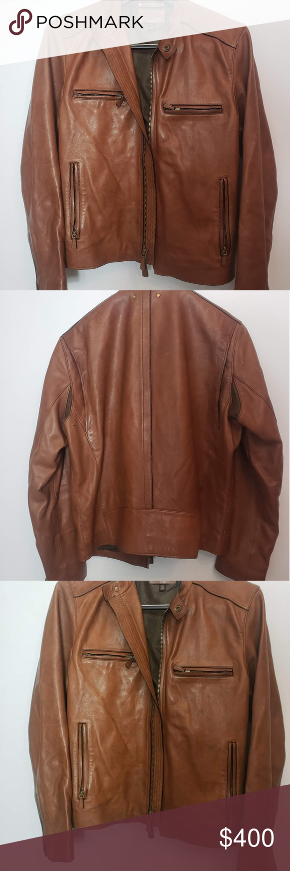 Coach Bleecker Leather Racer 82781 Size US L Retail 998