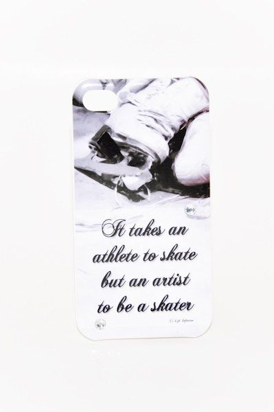 ICE SKATING CELLPHONE Case Inspirational Athlete Artist Figure Skating Iphone 4/4s Case Cover