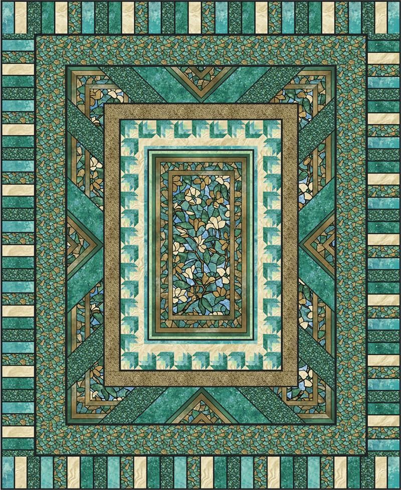 Quilt Patterns with Center Panels | Fractured Glass Quilt Pattern ... : quilting panels quilt patterns - Adamdwight.com