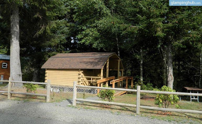 Rustic Camping Cabins located near Astoria, Oregon