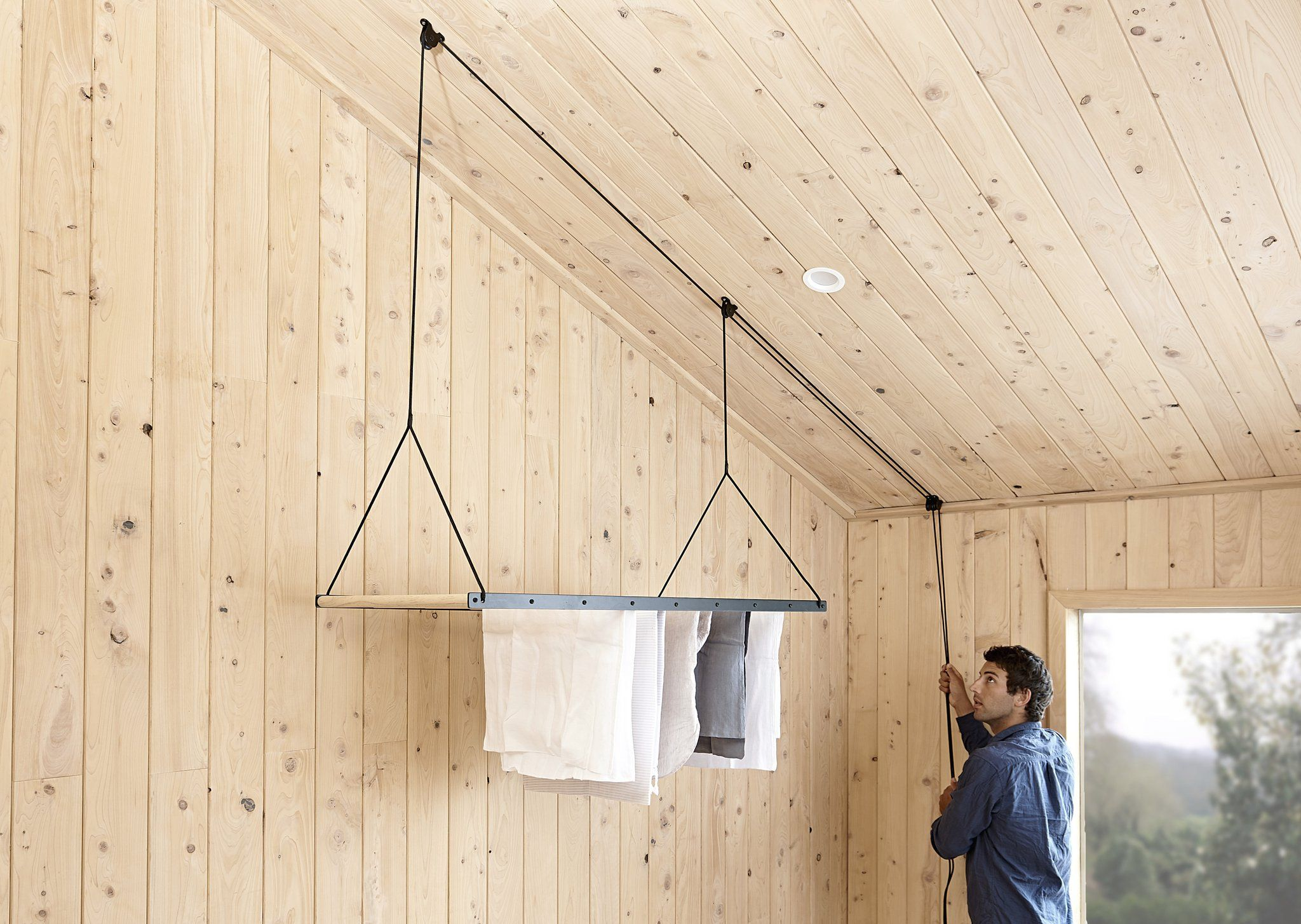Hanging drying rack house pinterest laundry organizations and