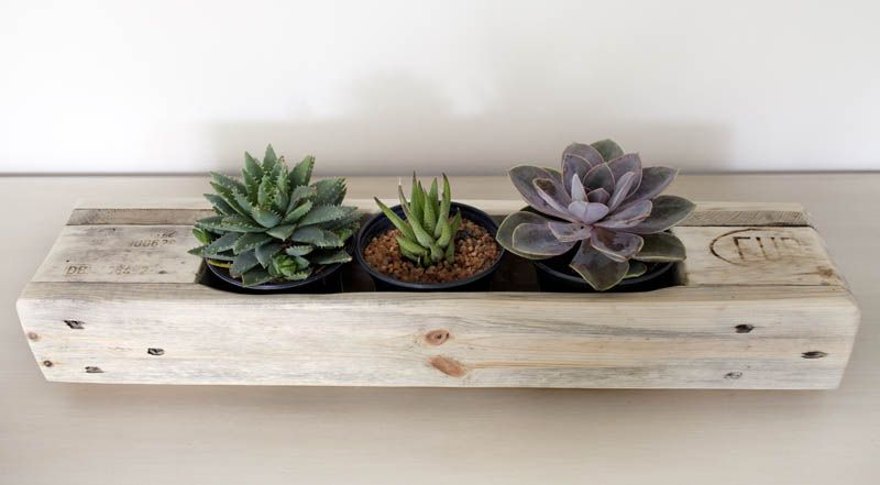 #Recycled #Pallet #Planter  http://reclaimdesign.weebly.com/