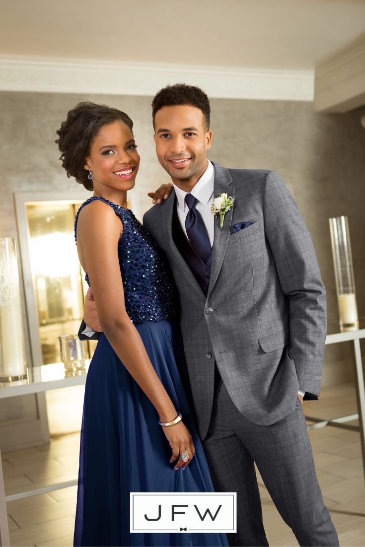 9 Awesome Tuxedos And Suits For Prom Jim S Formal Wear Blog Prom Suits Navy Prom Dresses Grey Suit Prom [ 1102 x 735 Pixel ]